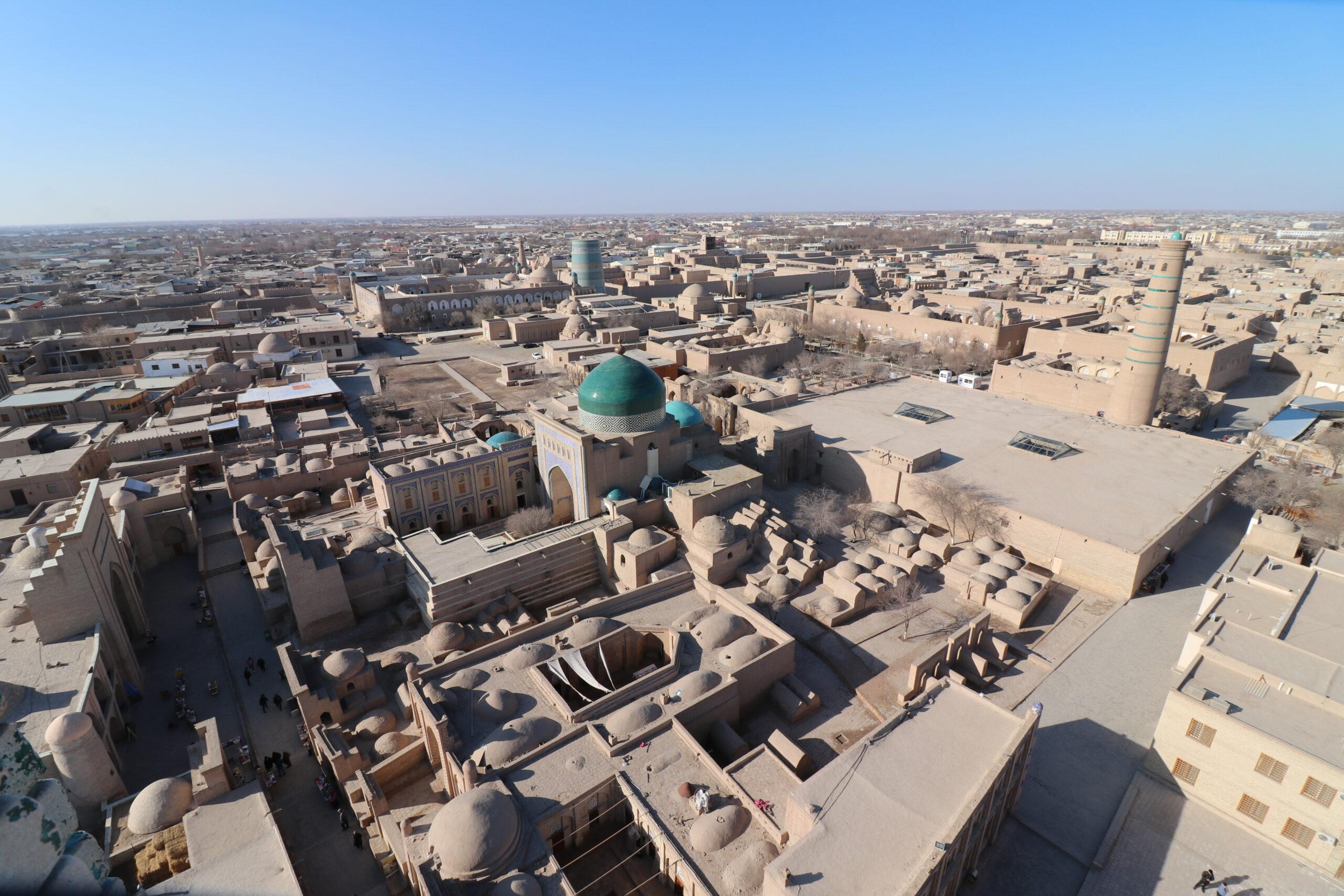 【世界遺産】ウズベキスタン・ヒヴァの世界遺産イチャン・カラを歩く